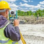 Land Surveyor in the field