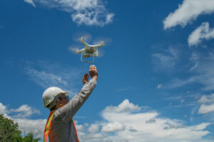 Drone photography in land surveying